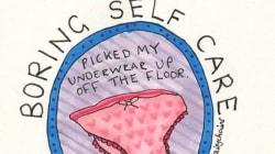 'Boring Self-Care' Drawings Celebrate Everyday Mental Health