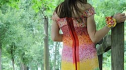 Dress Made Out Of 10,000 Starburst Wrappers Has A Sweet