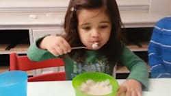 Little Girl's Reaction To Her Food Is Seriously