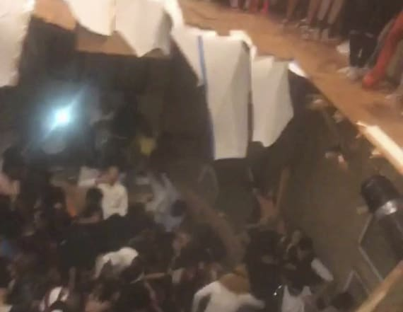 Dozens hurt in floor collapse at apartment party