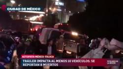 Al menos ocho muertos y 40 heridos en un tremendo accidente entre México y