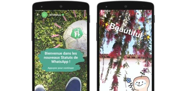La nouvelle fonctionnalité de Whatsapp est une imitation flagrante des stories de Snapchat.