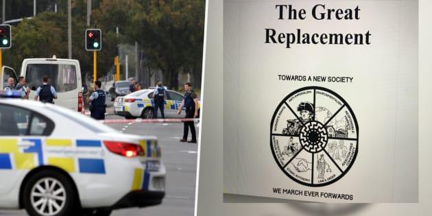 """Christchurch: la théorie complotiste du """"grand remplacement"""" français, obsession du terroriste"""