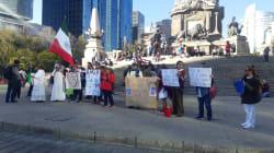 Ciudadanos marchan para apoyar a AMLO y su estrategia contra el