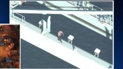L.A. Car Thief Pursued By Police Dies In Crane