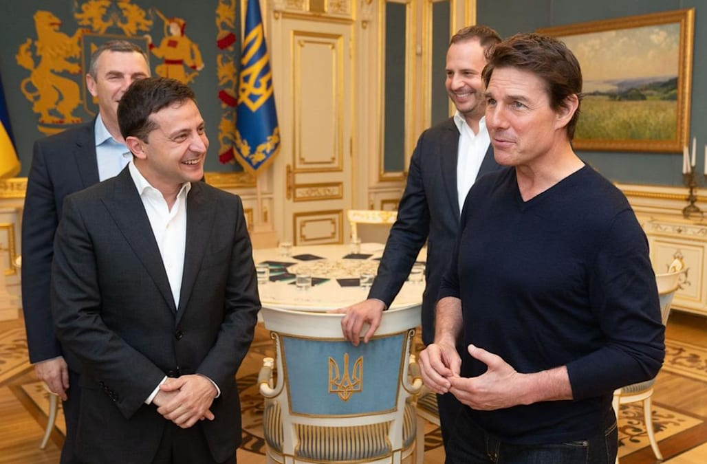 Tom Cruise meets with Ukraine president at center of Trump