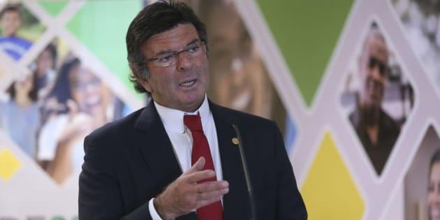 O ministro Luiz Fux, presidente do TSE, durante apresentação do perfil do eleitorado brasileiro.
