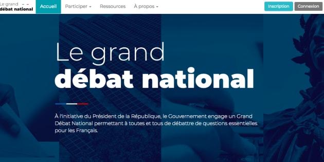 Granddebat.fr, le site du grand débat national, a été mis en ligne ce mardi 15 janvier au soir.