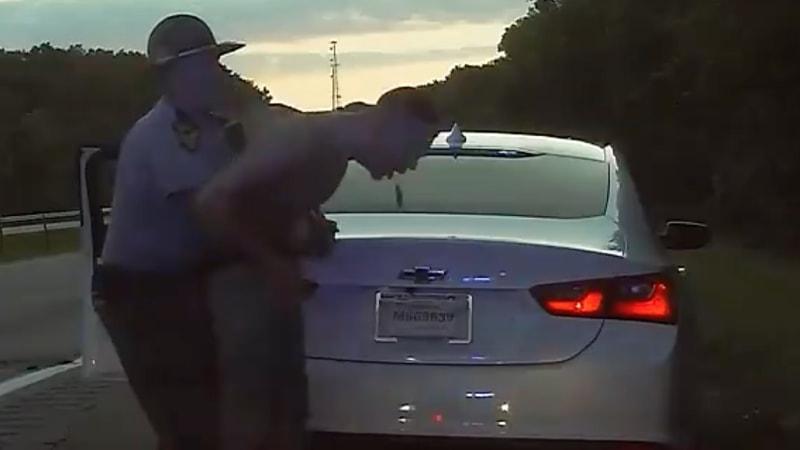 Trooper performs Heimlich on driver choking on bag of marijuana