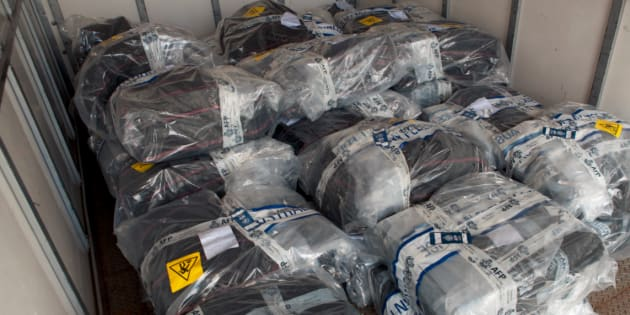 The Australian Federal Police have made the largest seizure of illegal cocaine in Australian history.