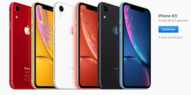 L'Apple Store Opéra prend des couleurs — IPhone XR