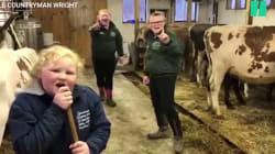 Ces trois soeurs dansent au milieu de leurs vaches pour sensibiliser à la crise du