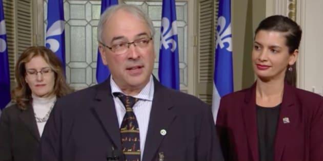 Alain Cossette, DG de la Fédération québécoise des chasseurs et pêcheurs, était présent à l'annonce de la ministre Guilbault.