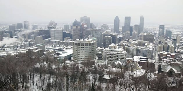 """Une vague de """"froid intense"""" s'est abattue sur le Canada, pourtant habitué aux températures négatives."""