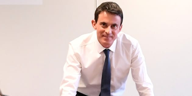 Manuel Valls lors de l'inaguration de son QG de campagne le 14 décembre 2016 à Paris. REUTERS/Alain Jocard/Pool