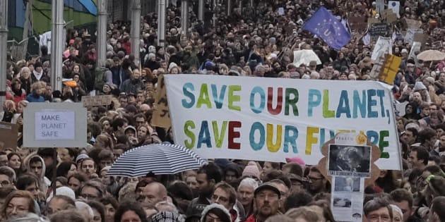 Manifestazione contro i cambiamenti climatici a Bruxelles