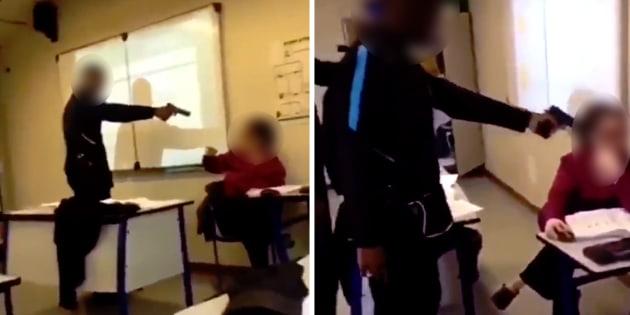 Un lycéen a pointé une arme factice sur sa professeure