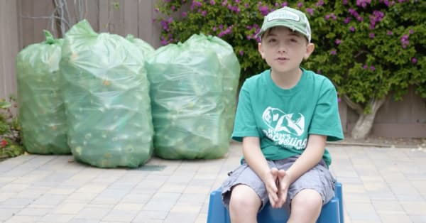 This 9-year-old wants to save the earth – so he started his own recycling empire
