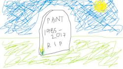 La notizia della morte di Paint è fortemente