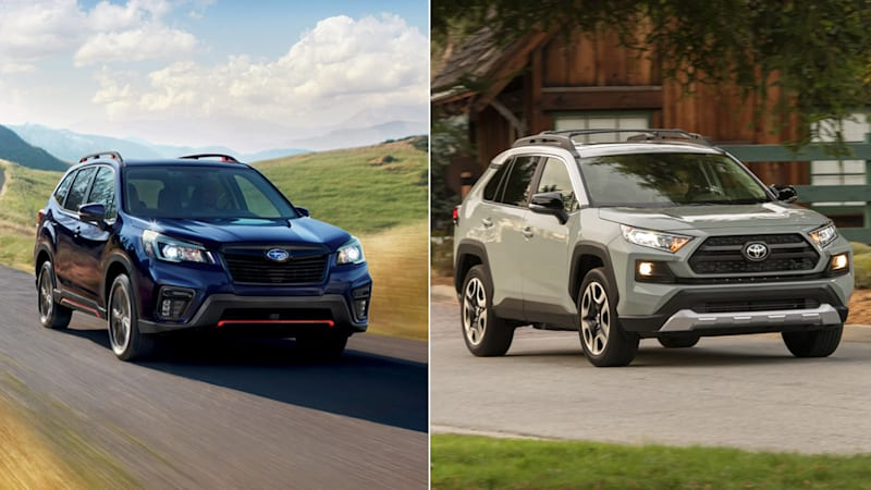 2019 Subaru Forester Sport vs 2019 Toyota RAV4 Adventure: How they compare