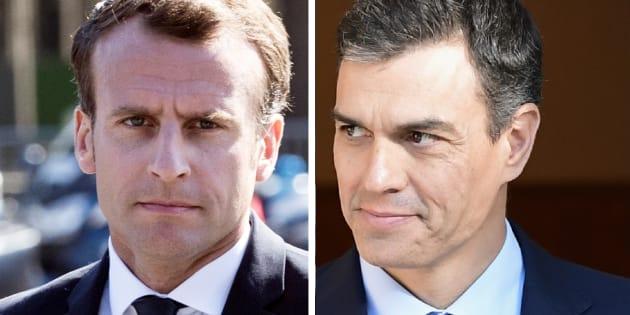 Pedro Sanchez à l'Élysée, un miroir inversé d'Emmanuel Macron.