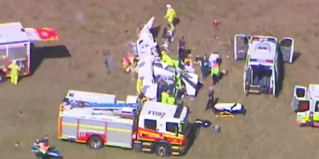 All four passengers were removed from the wreckage.