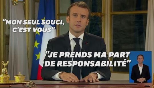Macron a bien martelé son mea culpa tout au long de son