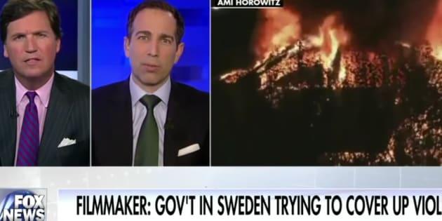 """Où est-ce que Trump a vu que la Suède était à feu et à sang? Dans ce """"reportage"""" sur Fox News..."""