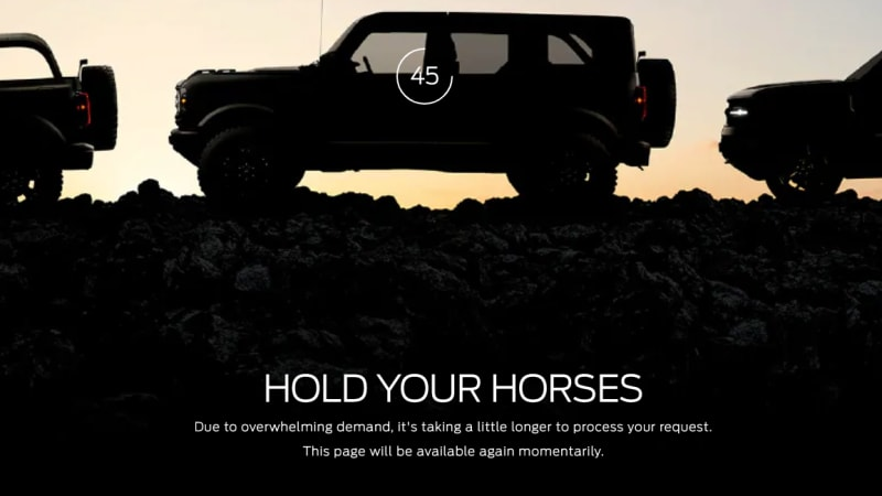 2021 Ford Bronco First Edition Reservations Sell Out Bronco