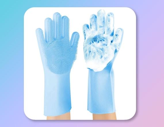 Amazon's no. 1 reusable scrub gloves clean faster