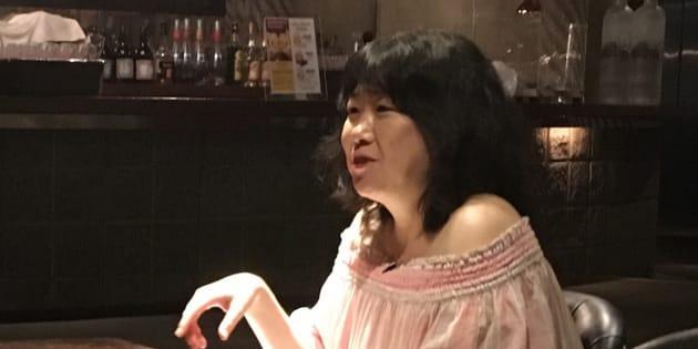 BBCの取材に答える津田環プロデューサー