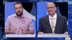 Em debate do SBT, Boulos provoca Alckmin: 'Cadê o dinheiro da