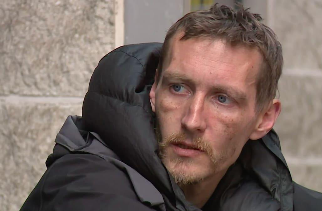 Homeless man attacks celebrity ghost