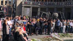 À Erevan, des centaines de personnes ont suivi sur écran géant l'hommage à