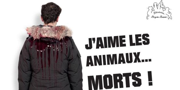 """""""J'aime les animaux ... Morts !"""", la campagne choc de la Fondation Bardot contre la fourrure"""