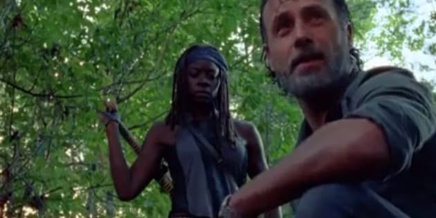 the walking dead saison 7 pisode 12 le couple d 39 enfer de rick et michonne attention. Black Bedroom Furniture Sets. Home Design Ideas