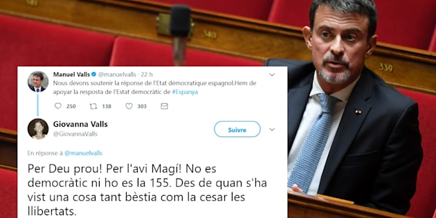 Manuel Valls se fait rembarrer par sa soeur sur Twitter — Catalogne
