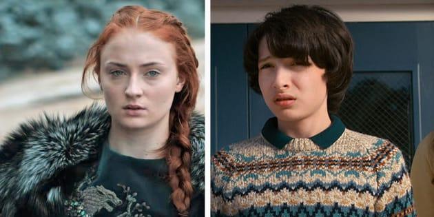 """Sophie Turner de """"Game of Thrones"""" défend cet acteur de """"Stranger Things"""" face au harcèlement de fans"""