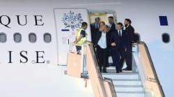 Dejan solos a Macron y su esposa en el aeropuerto previo a la cumbre del