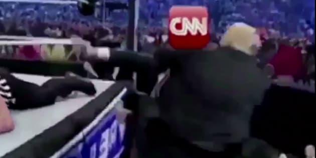Captura del vídeo difundido por Donald Trump en su cuenta de Twitter.
