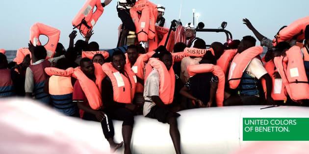 Une publicité de Benetton montrant un sauvetage de migrants fait polémique en Italie