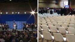 Au meeting de Fillon, il y avait beaucoup plus de monde à l'écran que dans la