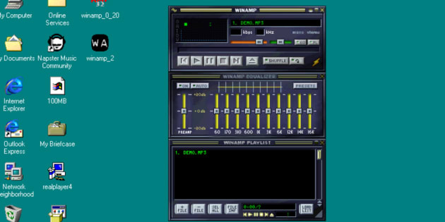 Le célèbre logiciel Winamp, sorti en 1997. Il devrait faire son retour en 2019.