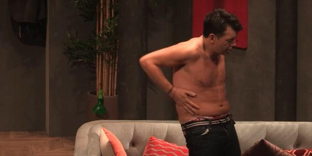 Stéphane Plaza a fini complètement nu lors de la dernière de sa pièce de théâtre.