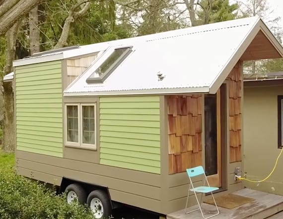 This man's tiny home has made him live greener