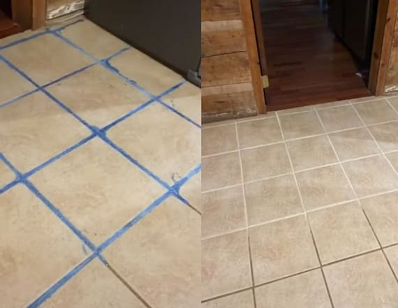 Surprising grout-cleaning hack makes floor look new