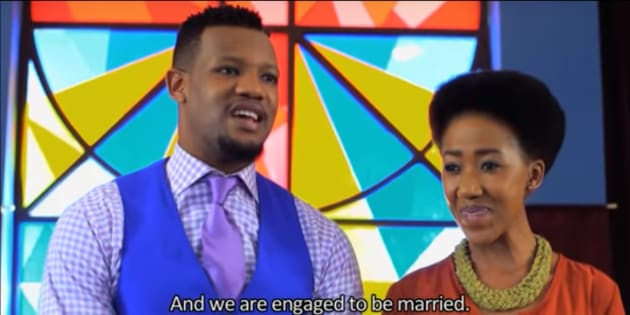 "Pastor Ayanda Mdletshe announces his engagement in this week's ""Uzalo""."
