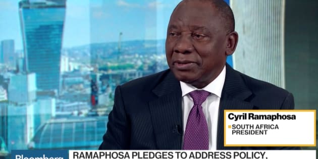 President Cyril Ramaphosa in an interview with Bloomberg on Wednesday.
