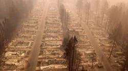 Cette photo de Paradise donne l'impression que la ville a subi une attaque