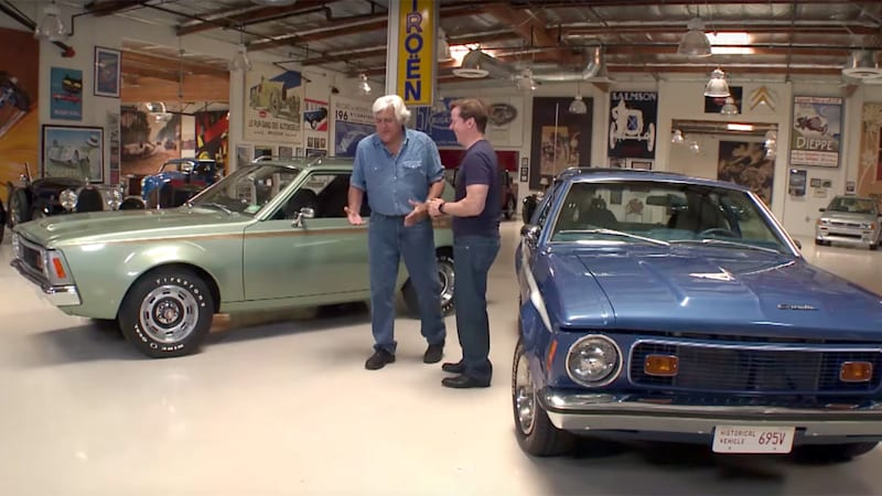 jeff dunham stops by leno 39 s garage with pair of amc. Black Bedroom Furniture Sets. Home Design Ideas
